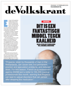 Pfs Is Front Page News In The Netherlands The Post Finasteride Syndrome Foundation